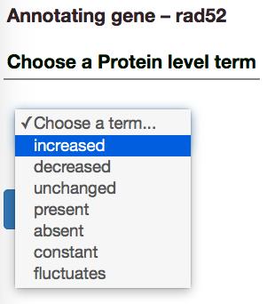 Gene expression description selection